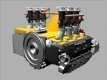 porsche 3.2 liter engine 3d model 3ds dxf 88080