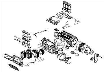 porsche 3.2 liter engine 3d model 3ds dxf 88082