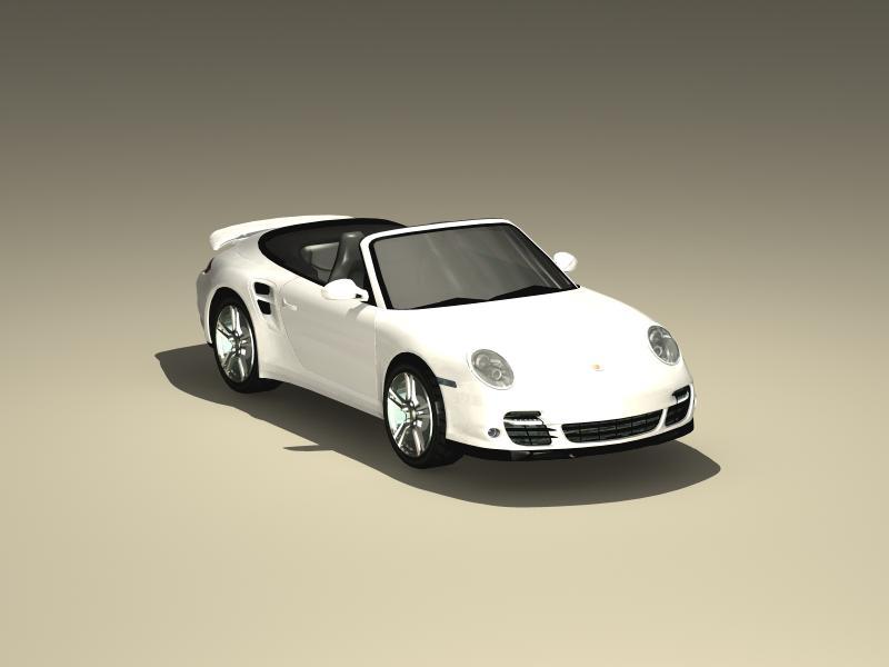 पोर्श 911 कैब्रियोलेट 2010 3d मॉडल 3ds अधिकतम fbx obj 147945