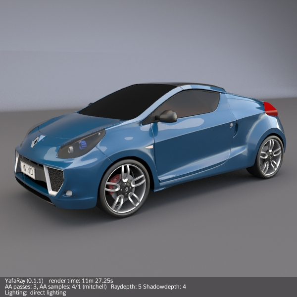 renault wind concept car 3d model 3ds fbx blend obj 112404