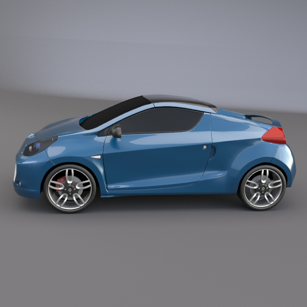 Renault Concept Car: Renault Wind Concept Car 3D Model