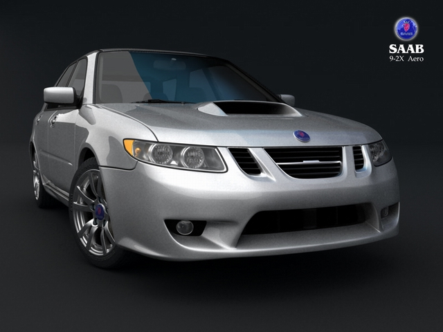 saab 9 2x 3d model 3ds max obj 124832