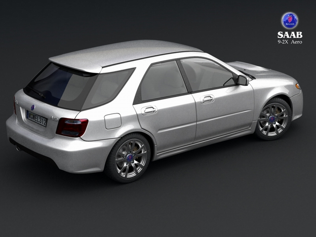 saab 9 2x 3d model 3ds max obj 124833
