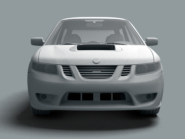 saab 9 2x 3d model 3ds max obj 124835
