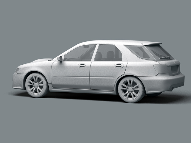 saab 9 2x 3d model 3ds max obj 124836
