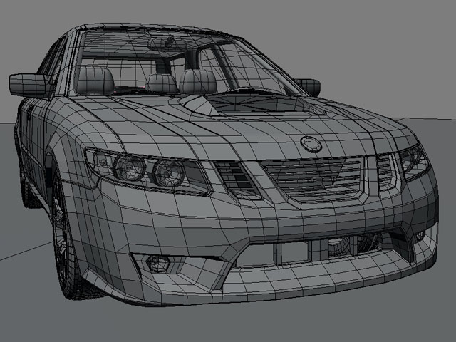 saab 9 2x 3d model 3ds max obj 124839