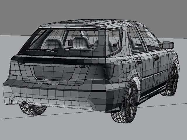 saab 9 2x 3d model 3ds max obj 124840