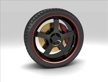 sport wheel 3d model max fbx c4d obj 111426