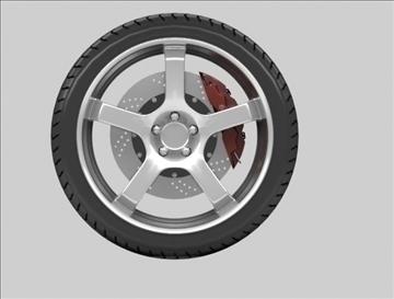 sport wheel 3d model max fbx c4d obj 111427