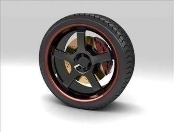 sport wheel 3d model max fbx c4d obj 111428