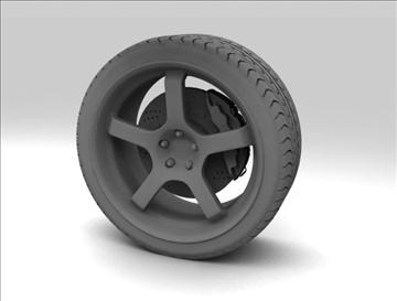 sport wheel 3d model max fbx c4d obj 111429