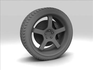 sport wheel 3d model max fbx c4d obj 111431