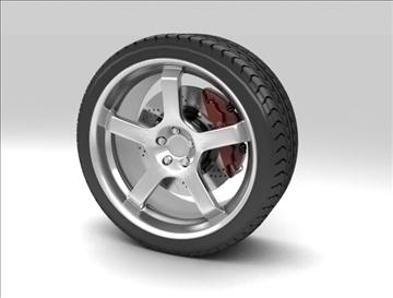 sport wheel 3d model max fbx c4d obj 111433