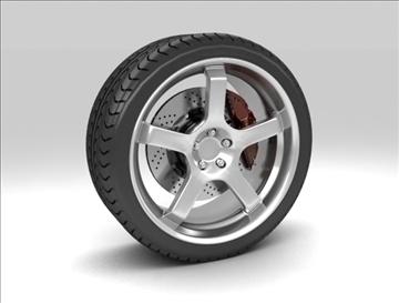 sport wheel 3d model max fbx c4d obj 111435