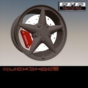 star custom wheel 3d model lwo 86624