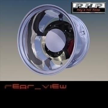 star custom wheel 3d model lwo 86626