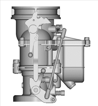 stromberg 97 carburetor 3d model 3ds dxf 99687