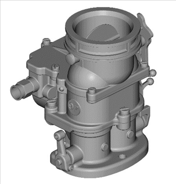 stromberg 97 carburetor 3d model 3ds dxf 99688