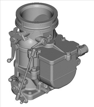stromberg 97 carburetor 3d model 3ds dxf 99689