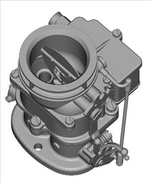 stromberg 97 carburetor 3d model 3ds dxf 99690