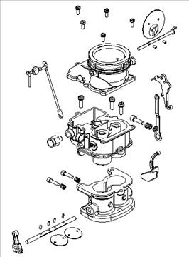 stromberg 97 carburetor 3d model 3ds dxf 99691