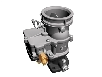 stromberg 97 carburetor 3d model 3ds dxf 99692