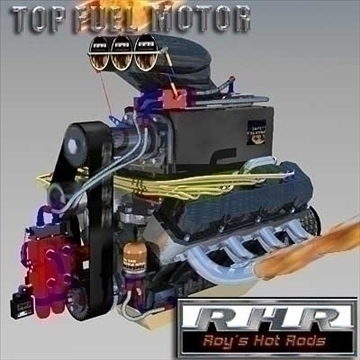 top fuel dragster motor 3d model lwo obj 81926
