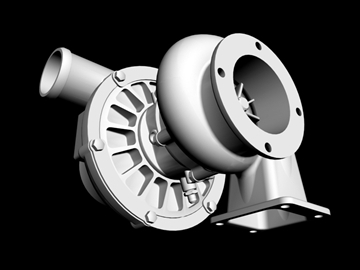 turbocharger 3d model 3ds dxf 88018