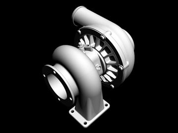 turbopunjač 3d model 3ds dxf 88019