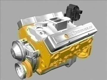 v8 engine 3d model 3ds dxf 88056