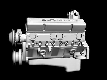 v8 motor 3d model 3ds dxf 88059