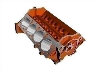 v8 engine bare block 3d model 3ds 88061