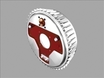 vintage finned brake drum setup 3d model 3ds dxf 99214