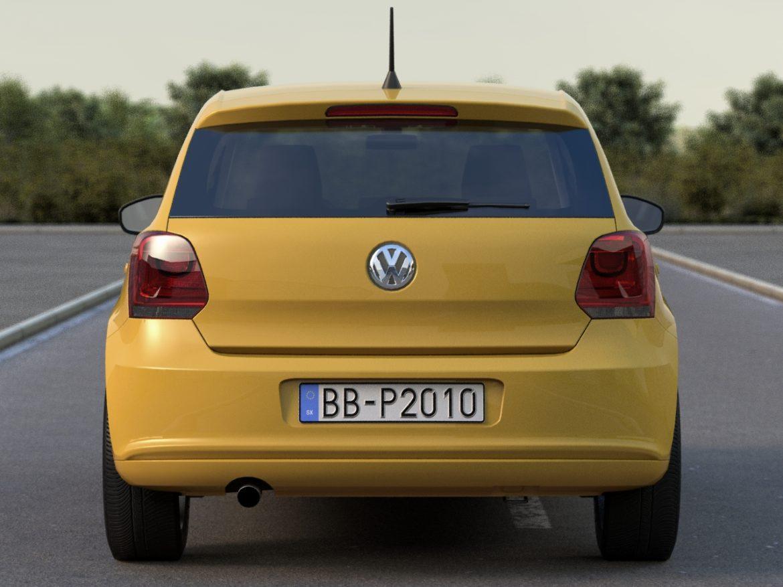 volkswagen polo 5d (2010) 3d model 3ds max fbx c4d obj 112322