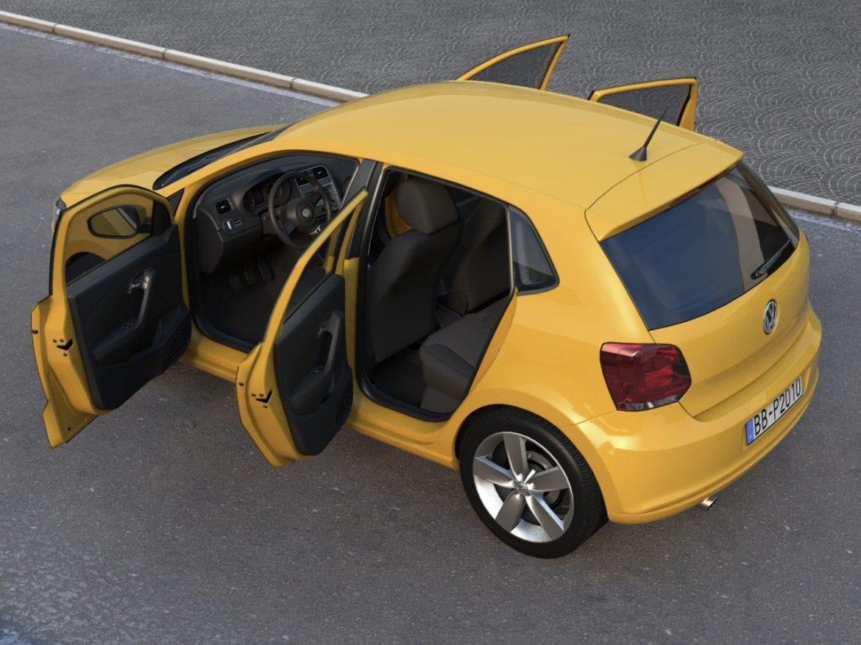 volkswagen polo 5d (2010) 3d model 3ds max fbx c4d obj 112324