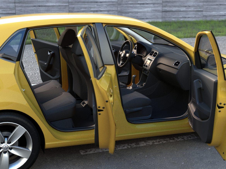 volkswagen polo 5d (2010) 3d model 3ds max fbx c4d obj 112325
