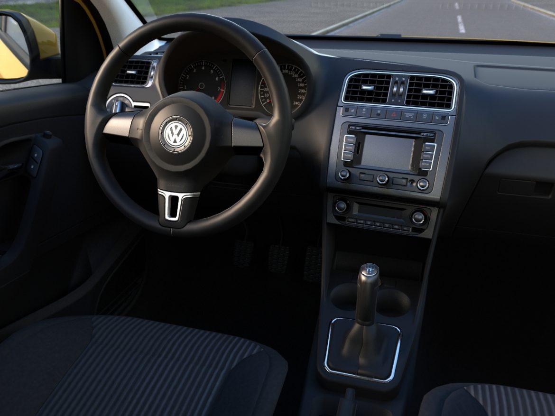 volkswagen polo 5d (2010) 3d model 3ds max fbx c4d obj 112327