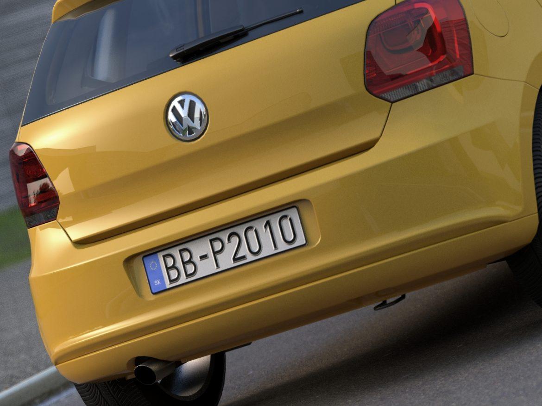 volkswagen polo 5d (2010) 3d model 3ds max fbx c4d obj 112329