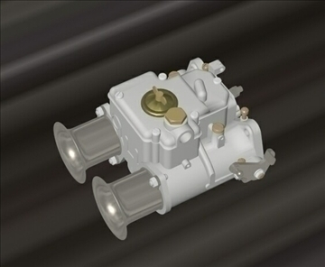 weber dcoe carburetor 3d model 3ds dxf 99110