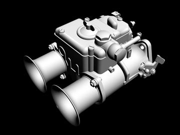 weber dcoe carburetor 3d model 3ds dxf 99111