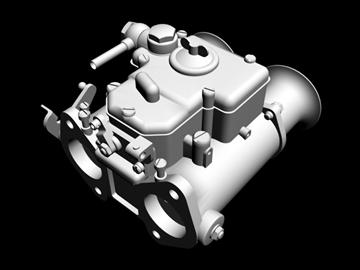 weber dcoe carburetor 3d model 3ds dxf 99112