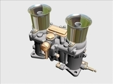 weber ida carburetor 3d model 3ds dxf 98906