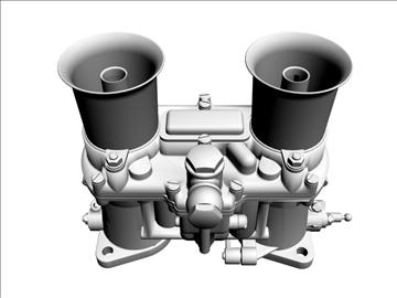 weber ida carburetor 3d model 3ds dxf 98907