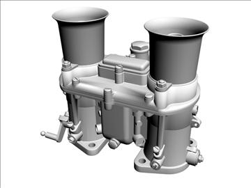 weber ida carburetor 3d model 3ds dxf 98908