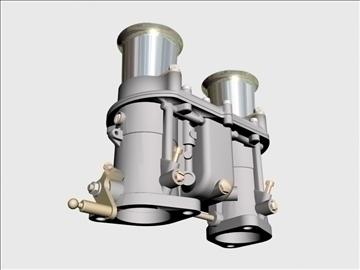 weber ida carburetor 3d model 3ds dxf 98909