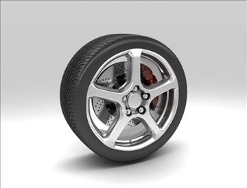 wheel 2 3d model 3ds max fbx c4d obj 111401