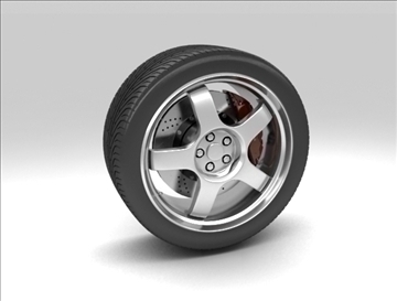 wheel 3 3d model 3ds max fbx c4d obj 111410