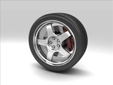 wheel 3 3d model 3ds max fbx c4d obj 111411