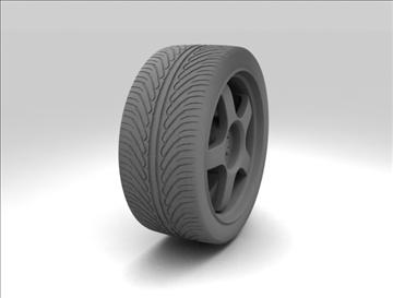 wheel 3 3d model 3ds max fbx c4d obj 111412