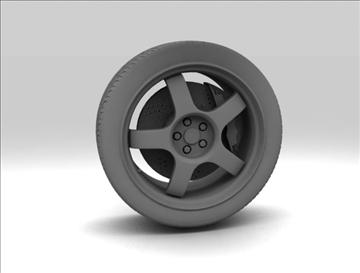 wheel 3 3d model 3ds max fbx c4d obj 111413